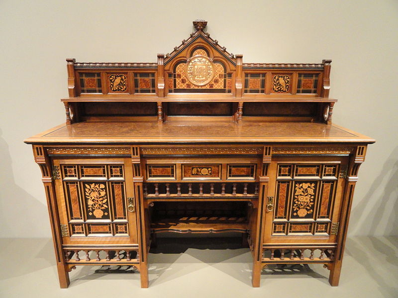 <i>Drawing room cabinet designed by Bruce James Talbert, made by Gillow & Co</i>