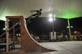 Drew Besanzon, a member of the Bikes Over Baghdad team, rides up a quarter pipe at the U.S. Air Force 379th Air Expeditionary Wing headquarters at an undisclosed location in Southwest Asia Nov. 9, 2013 131109-F-EN483-065.jpg