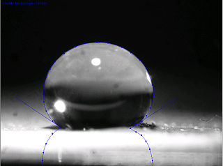 Ultrahydrophobicity material property