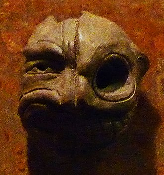 Tlatilco - Small ceramic mask from Tlatilco commonly referred to as the duality mask