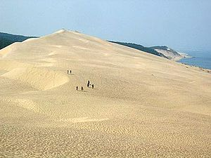 Nouvelle-Aquitaine - The dune of Pilat is the tallest sand dune in Europe.