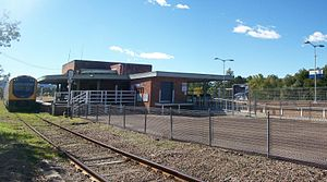 Dungog railway station - Image: Dungograilway station