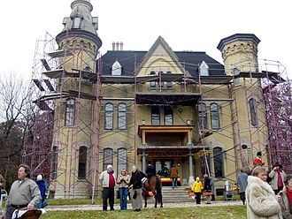 Wayne, Illinois - Dunham Castle, November 2006 during Stirrup Cup Celebration.