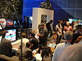 E3 2011 - gaming in the Disney booth living room (5822122667).jpg