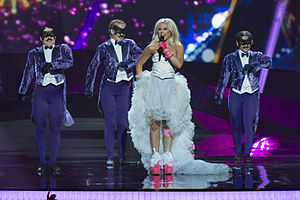 Finland in the Eurovision Song Contest 2013 - Krista Siegfrids at the second semi-final dress rehearsal in Malmö.