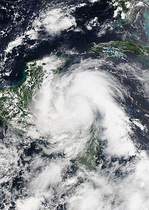 Hurricane Earl (2016) - Image: Earl 2016 08 03 1950Z