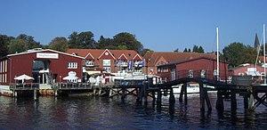 Eckernförde - Port of Eckernförde in mid-October 2005