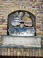 Eckhaus Südermarkt 7 in Flensburg von Paul Ziegler, Seitentür, Schriftzug AVG 1569, Bürgermeister v. Oesede war ich einst Heim und Sitz Bürgergemeinssinn erbaute mich neu mit Kunst und Witz 1928, Bild 01.JPG
