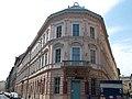 Eclectic corner house. Listed ID 1040. Gönczy Pál & Lónyay streets cnr - 1-3, Gönczy Pál, 7, Lónyay Street, Csarnok Square, Budapest District IX.JPG