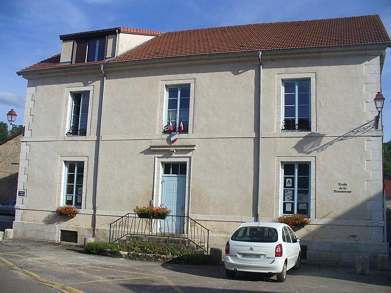 """Public primary school """"École de la Pommeraie"""" at Poulangy, Haute-Marne, France."""