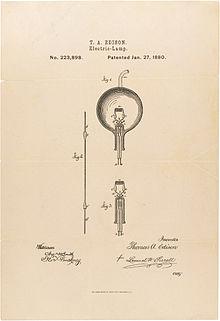 Brevetto dell'invenzione della lampadina elettrica di Thomas Alva Edison