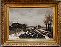 Eduard Alphonse Victor van der Meer. paysage de Polder sous la neige.jpg