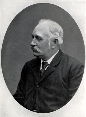 Edward Leader Williams - Photograph taken in the 1880s, during construction of the Manchester Ship Canal