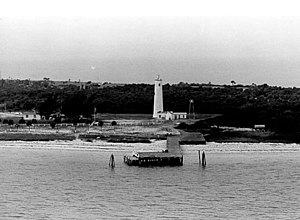 Egmont Key Light - Egmont Key Lighthouse without lantern, U.S. Coast Guard Archive