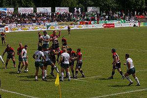 Rugby union in Poland - Budowlani Łódź playing Lechia Gdańsk