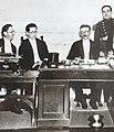 El gobernador de Tucumán, Octaviano Vera junto a sus ministros Eudoro Aráoz y Celedonio Gutiérrez.jpg