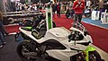 Electric motorcycles stand at the TT-Hall motor show, Assen (2018) 02.jpg