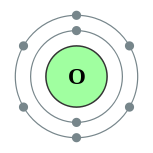 Electron shells of oxygen (2, 6)