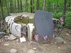 Memorial and wreckage of B-52 on Elephant Mountain