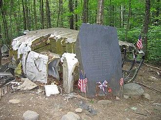 1963 Elephant Mountain B-52 crash - Memorial and wreckage of B-52 on Elephant Mountain