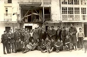 Biscay Campaign - A group of gudaris (Basque soldiers) in Elgeta, 1937.