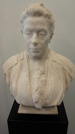 Walter and Eliza Hall Institute of Medical Research - Marble bust of Eliza Rowden Hall