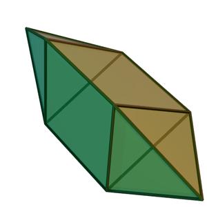 Elongated triangular bipyramid - Image: Elongated triangular dipyramid