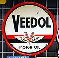 Enamel advertising sign, Veedol motor oil.JPG