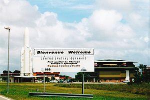 Guiana Space Centre - Image: Entrée du Centre Spatial Guyanais