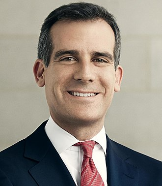 2017 Los Angeles mayoral election - Image: Eric Garcetti in Suit and Tie (cropped)
