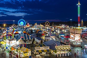 Erie County Fair - Image: Erie County Fair Midway, 2013