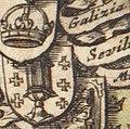 Escudo da Galiza no portolano Europa de Arnold Colom (1660).jpg