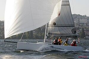 Esse 850 - Image: Esse 850 with kite