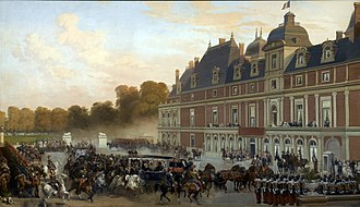 Château d'Eu - Arrival of Queen Victoria at the Château d'Eu, by Eugène-Louis Lami, 1843