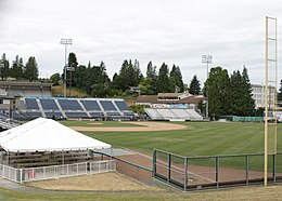 Everett Memorial Stadium baseball field.jpg