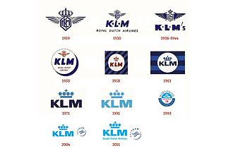 KLM - Evolution of the KLM logo