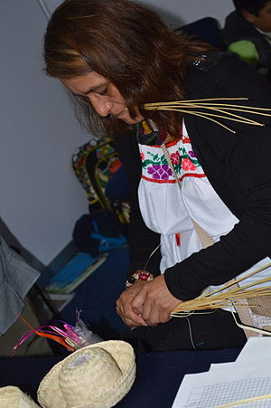 Basketry of Mexico - Weaving reeds together