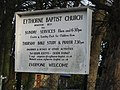Eythorne Baptist church noticeboard - geograph.org.uk - 649455.jpg