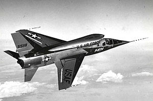 North American F-107 - North American F-107A, AF Ser. No. 55-5118, in flight