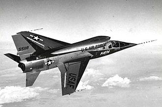 North American F-107 - North American F-107A, AF Ser. No. 55-5118, in flight