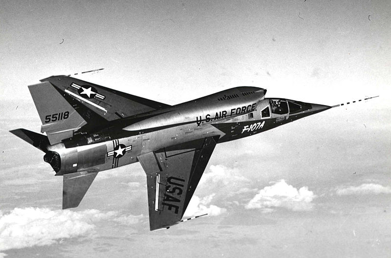 File:F-107A in flight.jpg