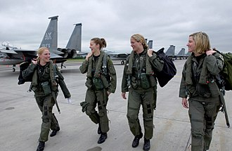 Fighter pilot - USAF fighter pilots heading to their jets before takeoff.