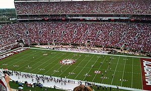 2009 Alabama Crimson Tide football team - The two teams getting ready for the opening kickoff