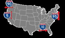 Los números impares van de norte a sur y los números aumentan de oeste a este, mientras que los números pares corren de este a oeste y los números aumentan de sur a norte.