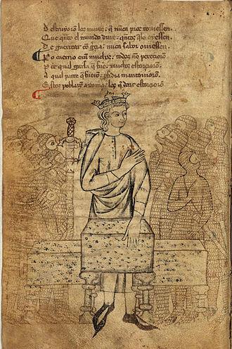 Libro de Alexandre - Alexander as portrayed in MS O