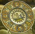 Faenza, piatto con donna e un orso che ballano, 1570 ca..JPG