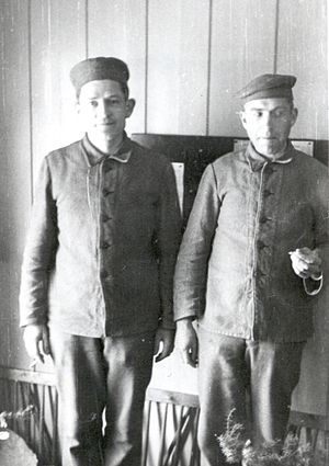Carl Viggo Lange - Carl Viggo Lange (left) at Falstad in 1942