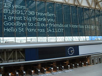 Waterloo International railway station - Image: Farewell Waterloo Eurostar