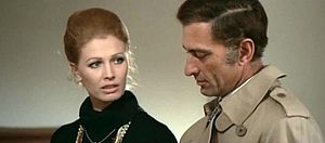 Silvano Tranquilli - Evelyn Stewart and Silvano Tranquilli in The Bloodstained Butterfly (1971)