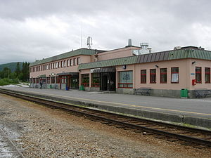Fauske - Railway station in Fauske; an important junction for many travellers. Fauske and Bodø are the most northerly stations on the main railway network in Norway. Photo: Lars Røed Hansen